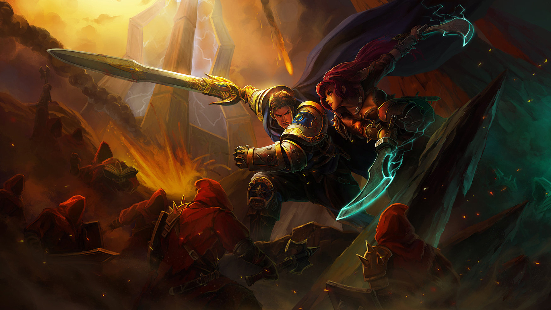Garen vs Katarina wallpaper