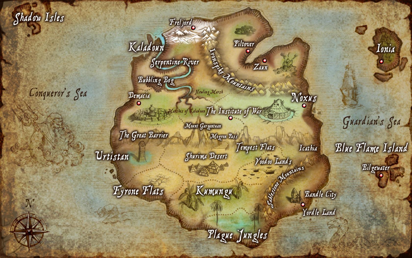 League of Legends Map wallpaper