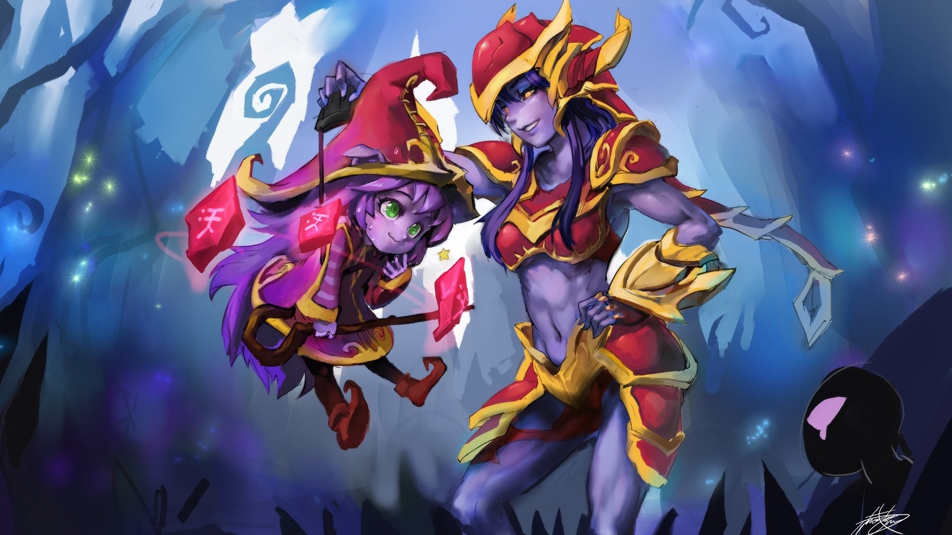 Lulu & Shyvana wallpaper