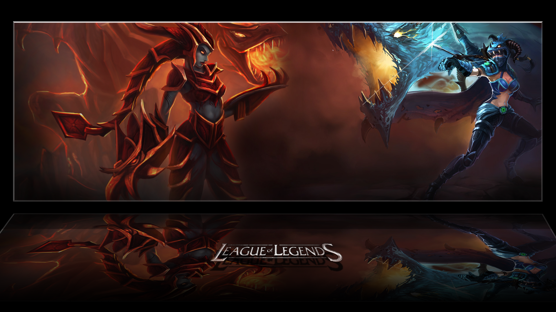 Shyvana vs Vayne wallpaper