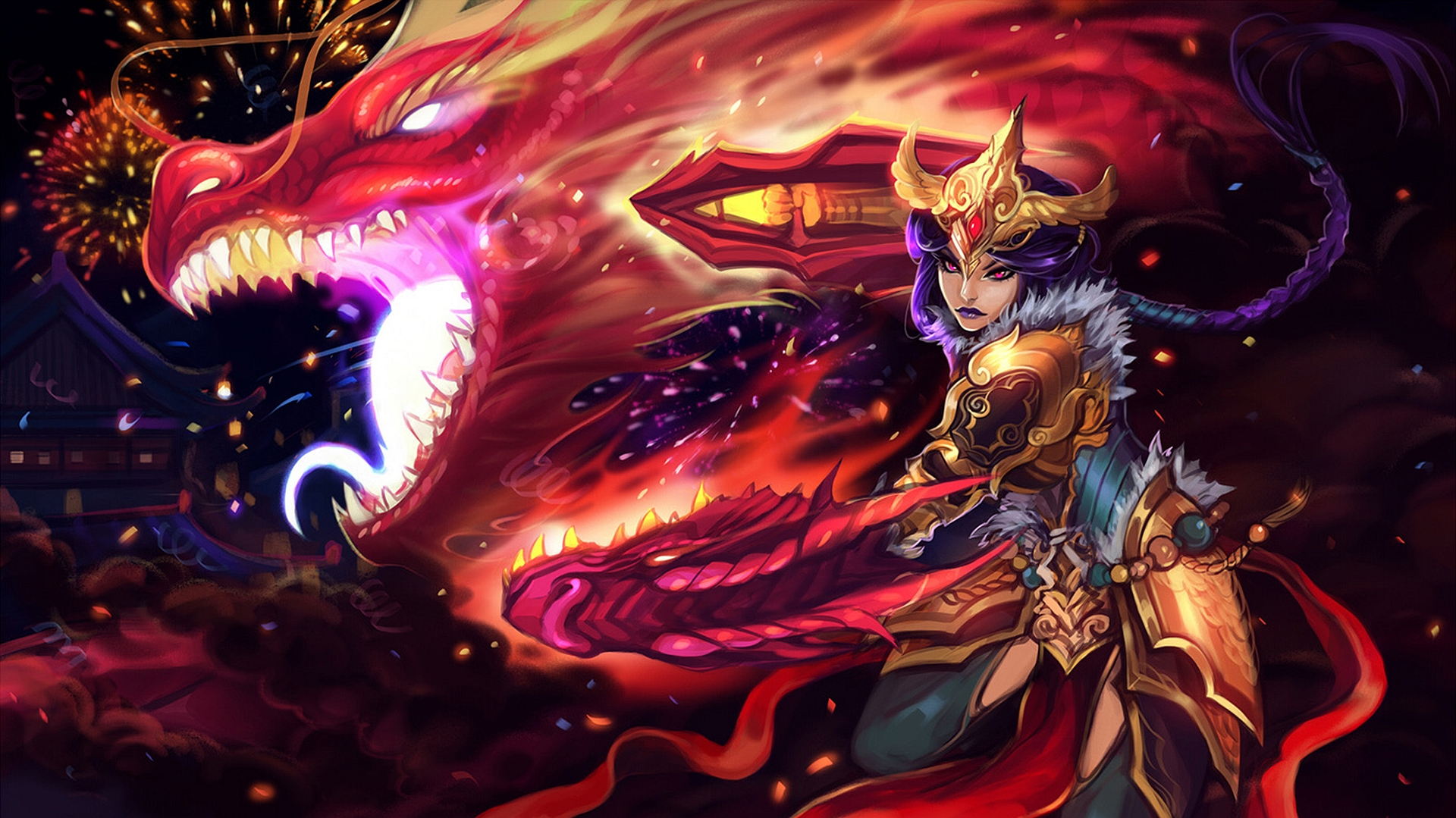 Shyvana wallpaper