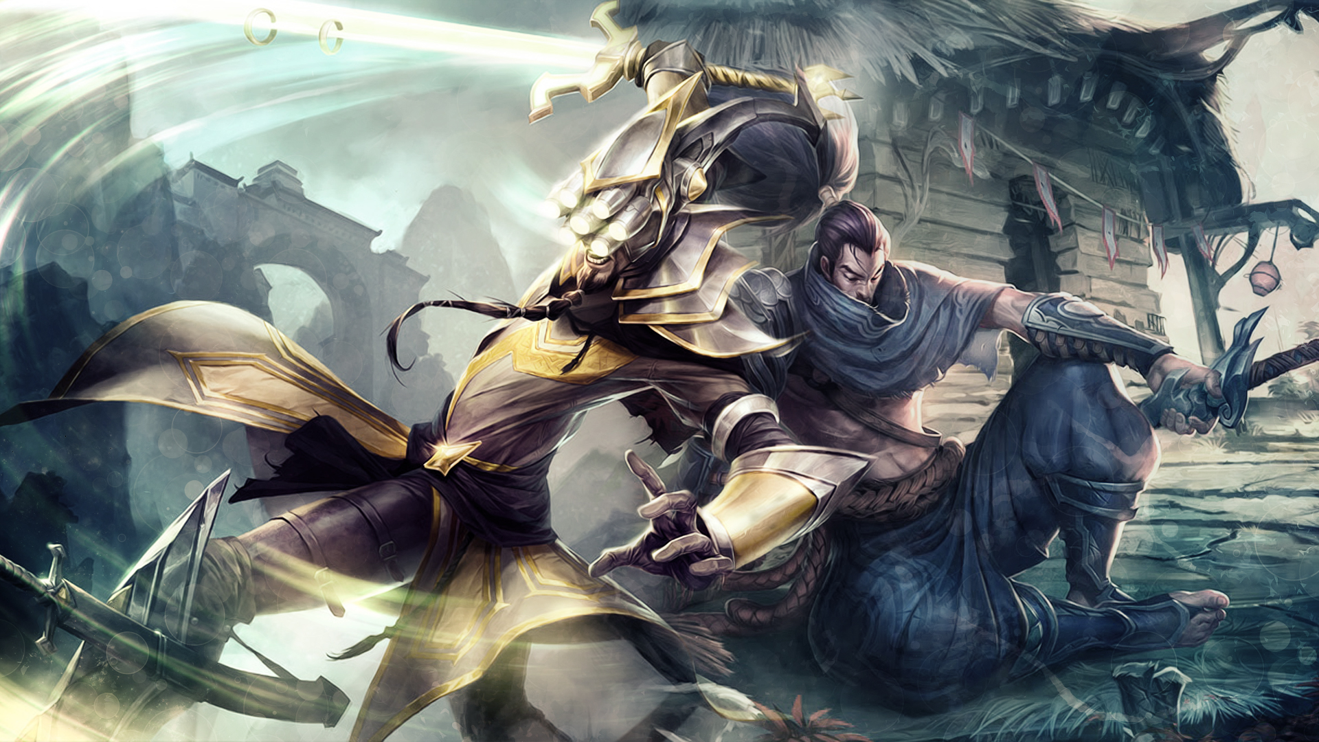 Master Yi vs Yasuo wallpaper