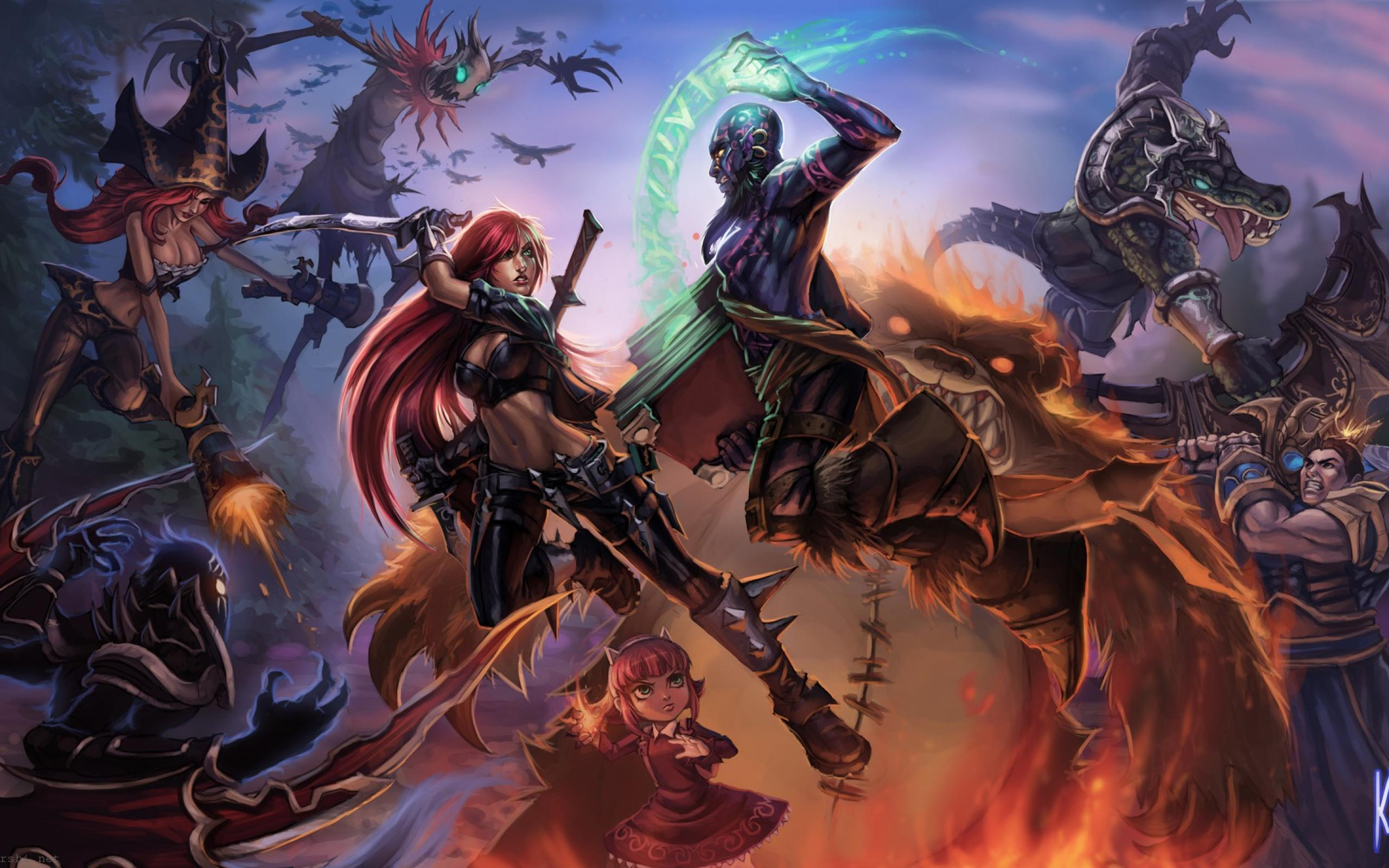 League of Legends Teamfight wallpaper