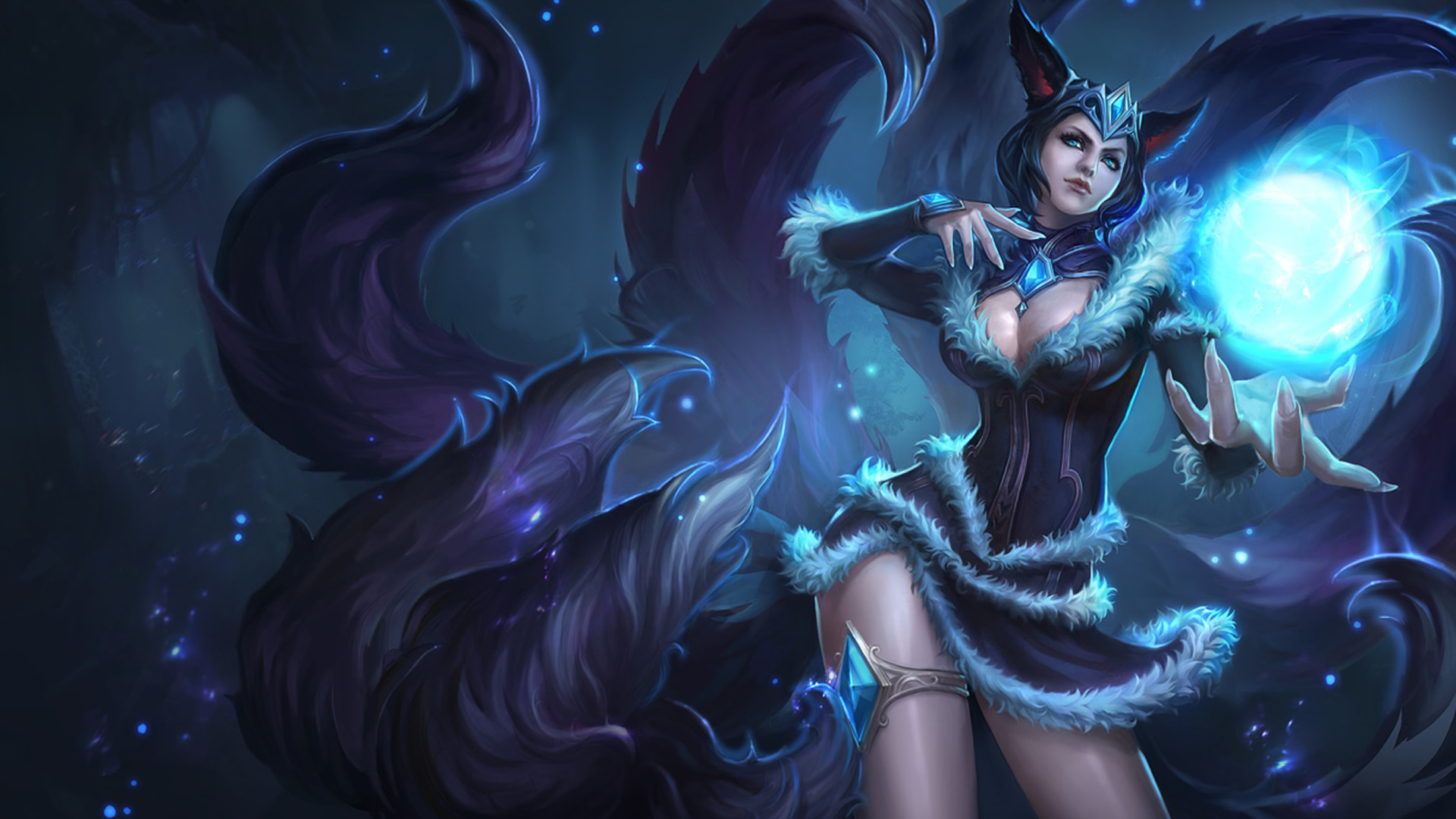 Midnight Ahri Chinese Skin wallpaper