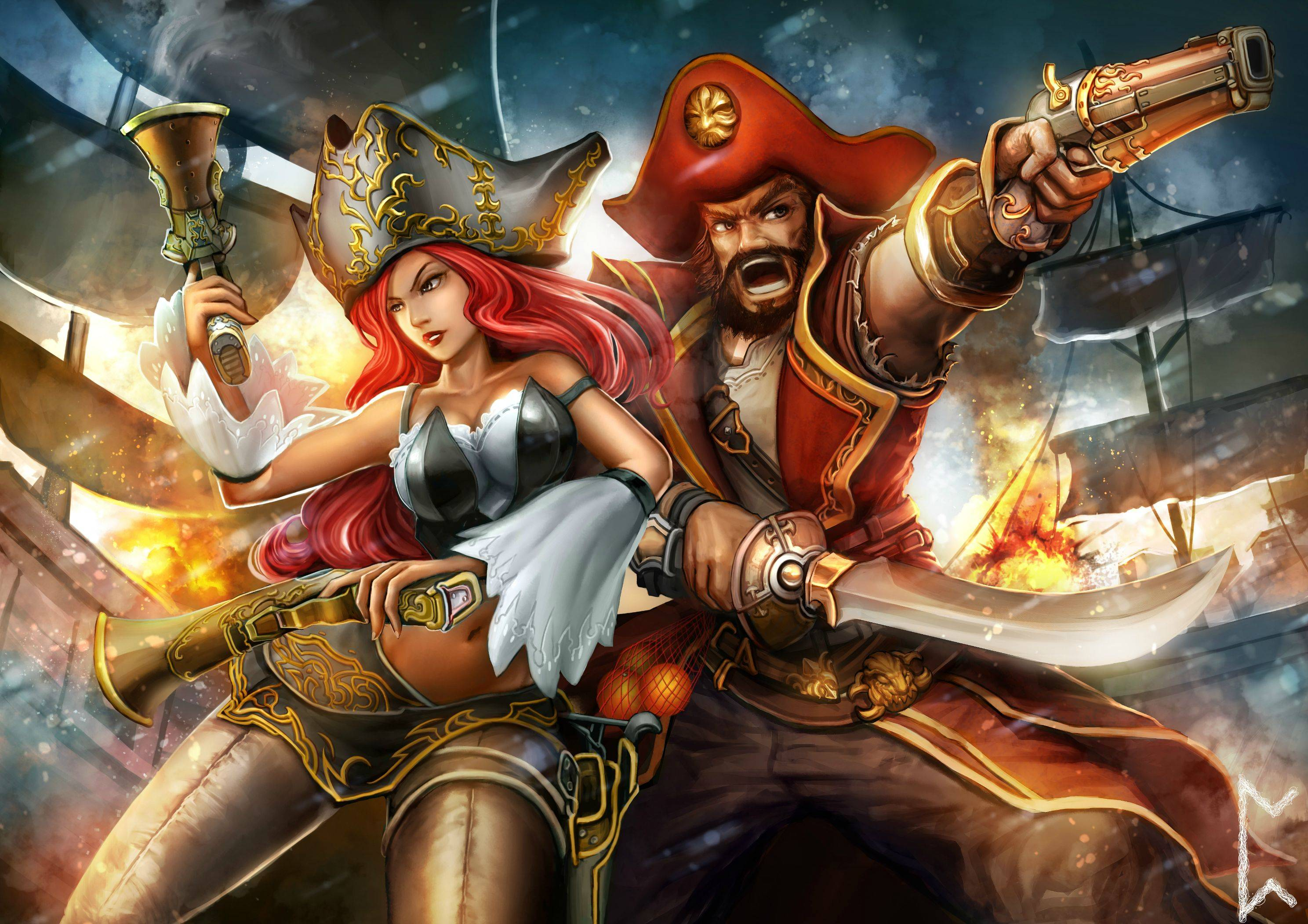 Miss Fortune & Gangplank wallpaper