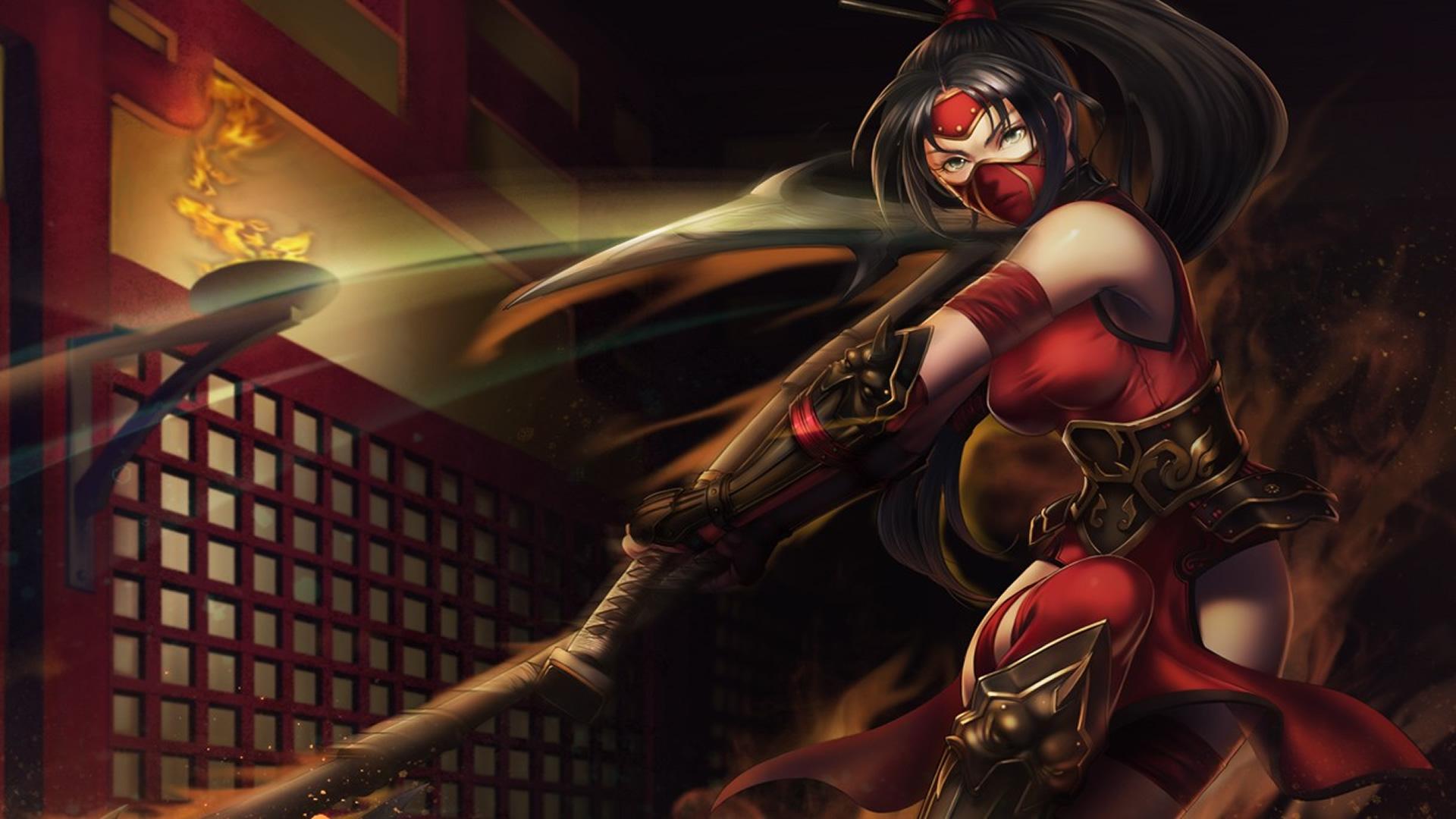 Crimson Akali Chinese Skin wallpaper