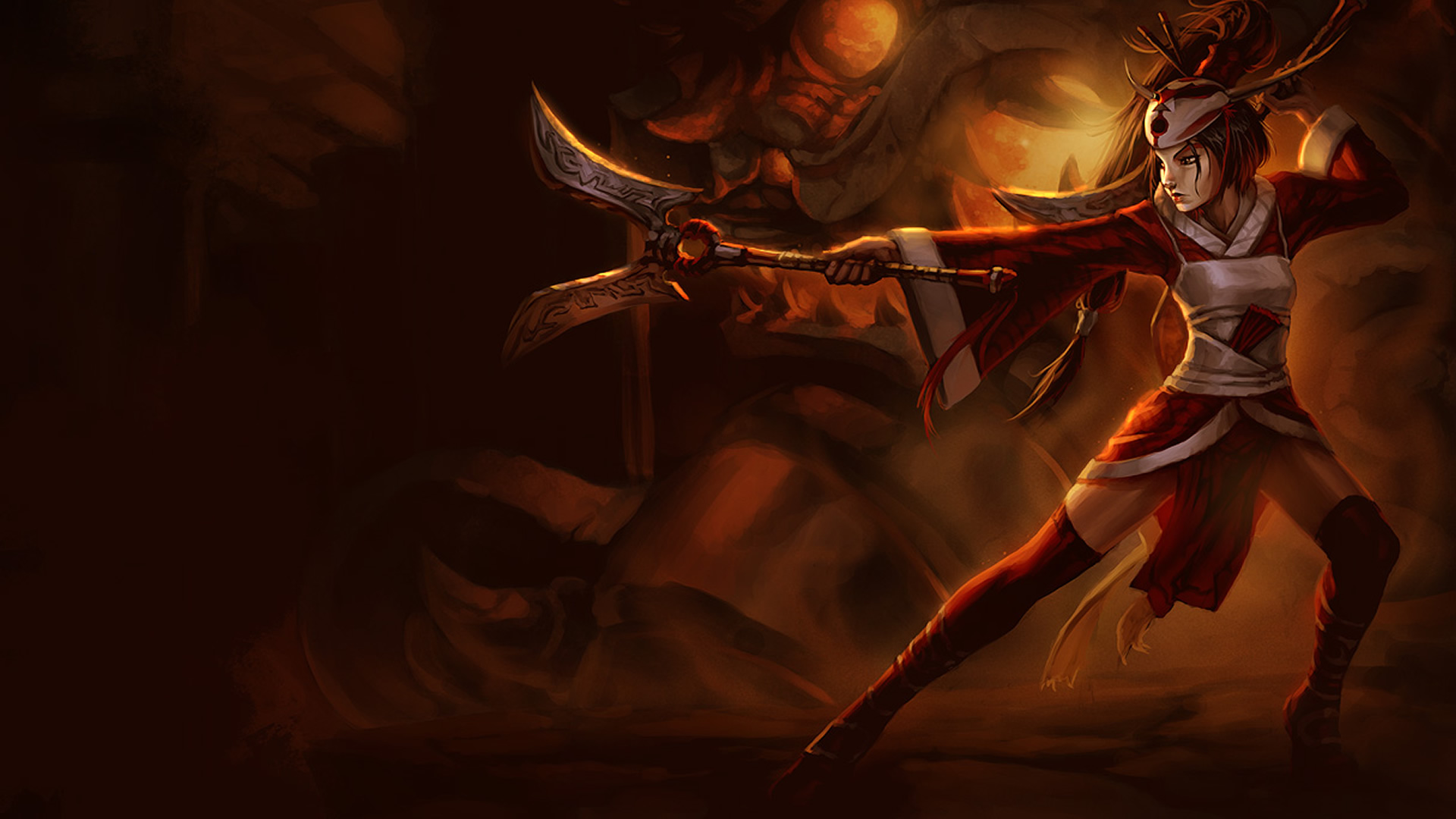 Blood Moon Akali wallpaper