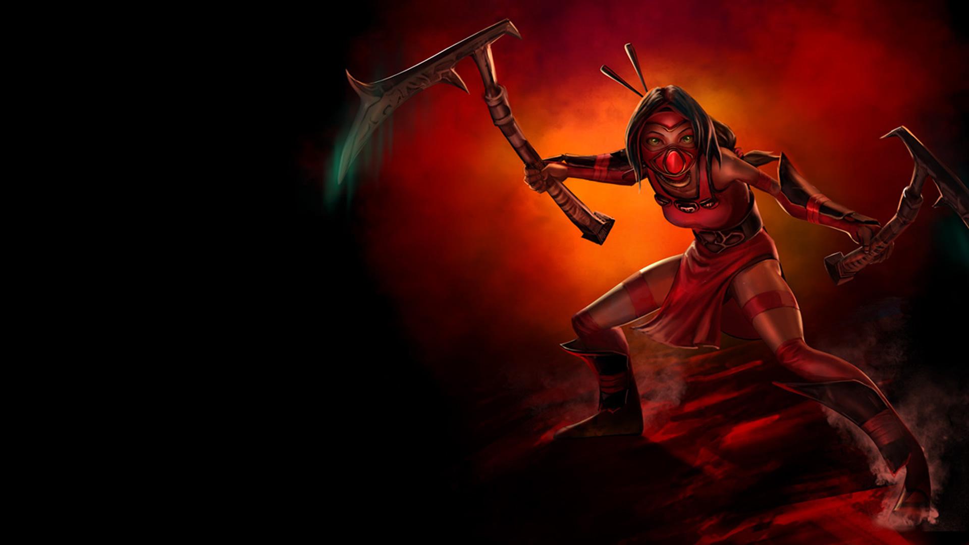 Crimson Akali wallpaper