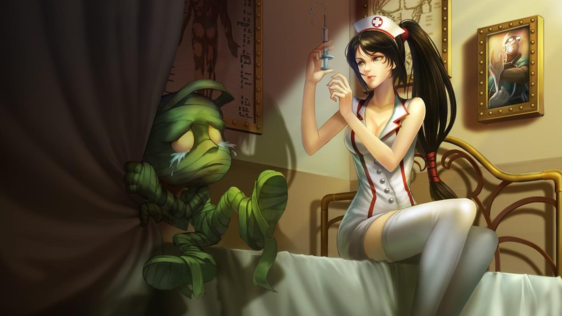 Nurse Akali wallpaper