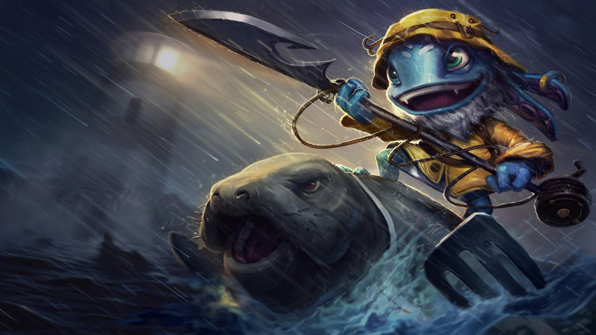 Fisherman Fizz wallpaper