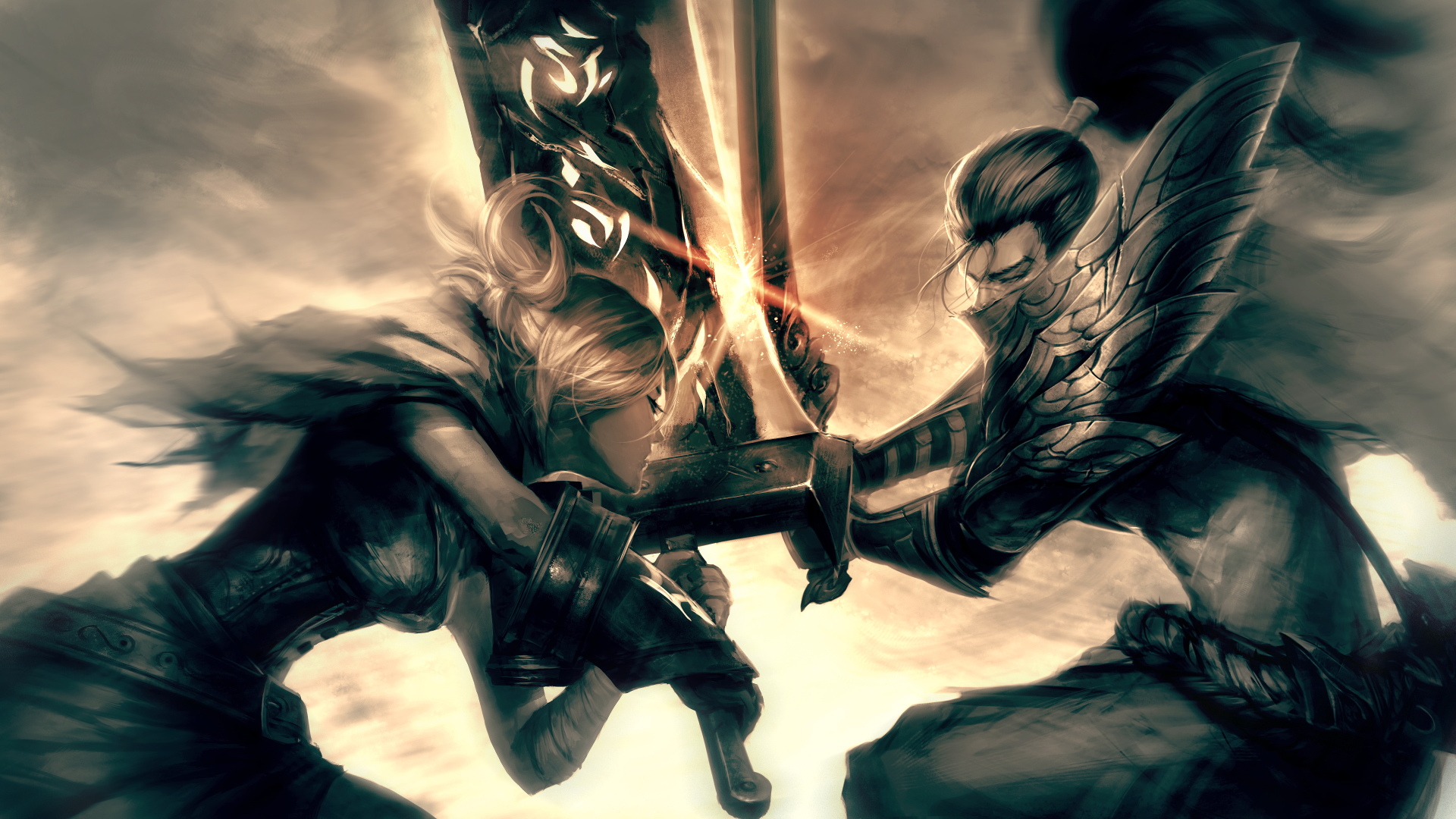 Riven vs Yasuo wallpaper