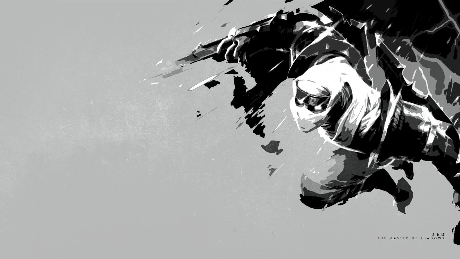 Shockblade Zed Minimalistic - LoLWallpapers