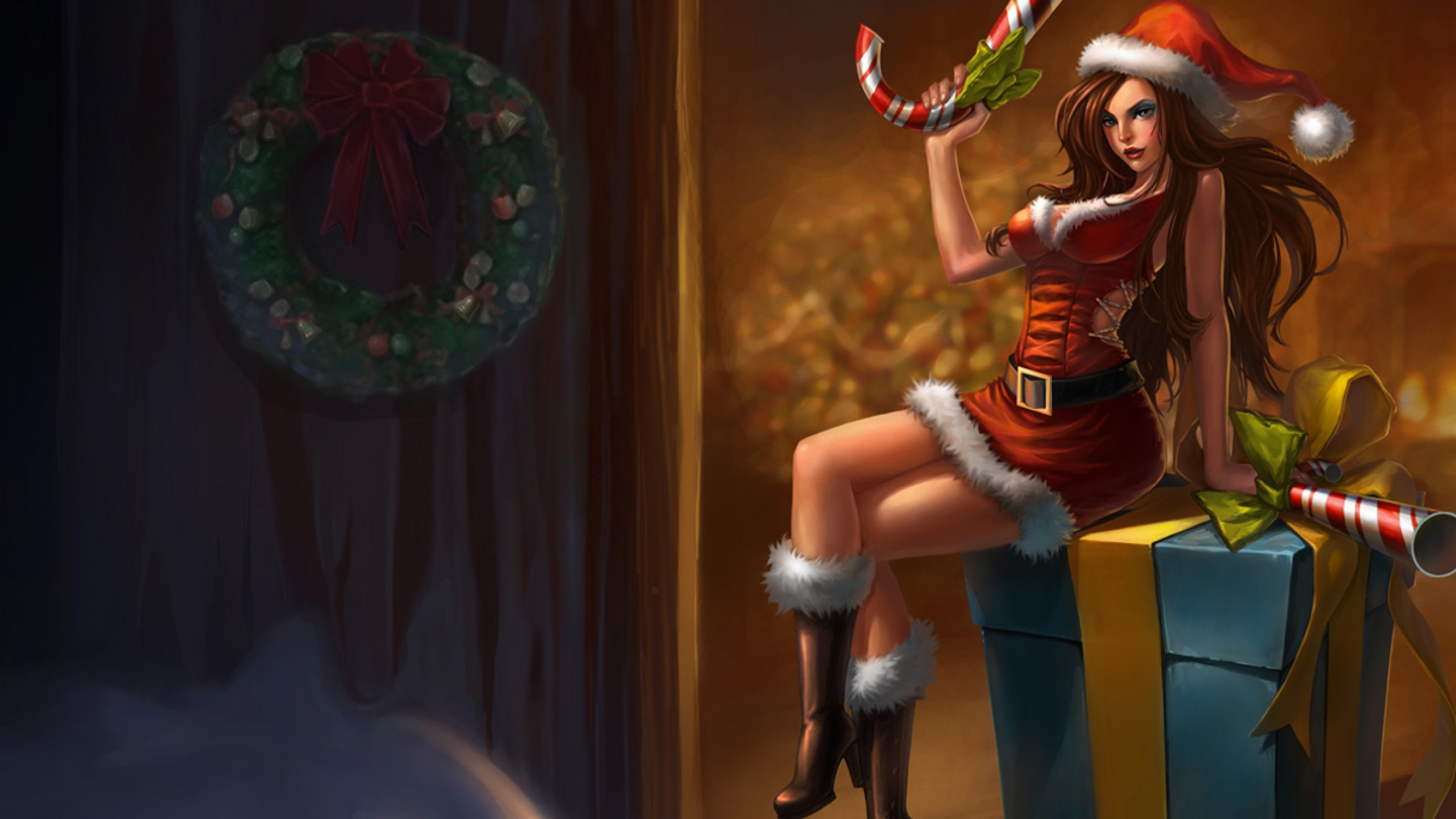 Candy Cane Miss Fortune Chinese Skin wallpaper