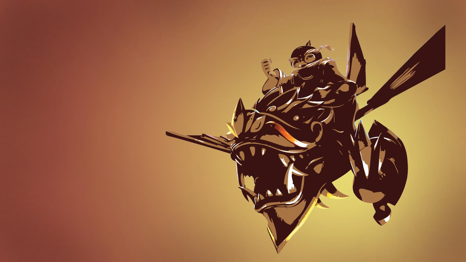 Dragonwing Corki Minimalistic wallpaper
