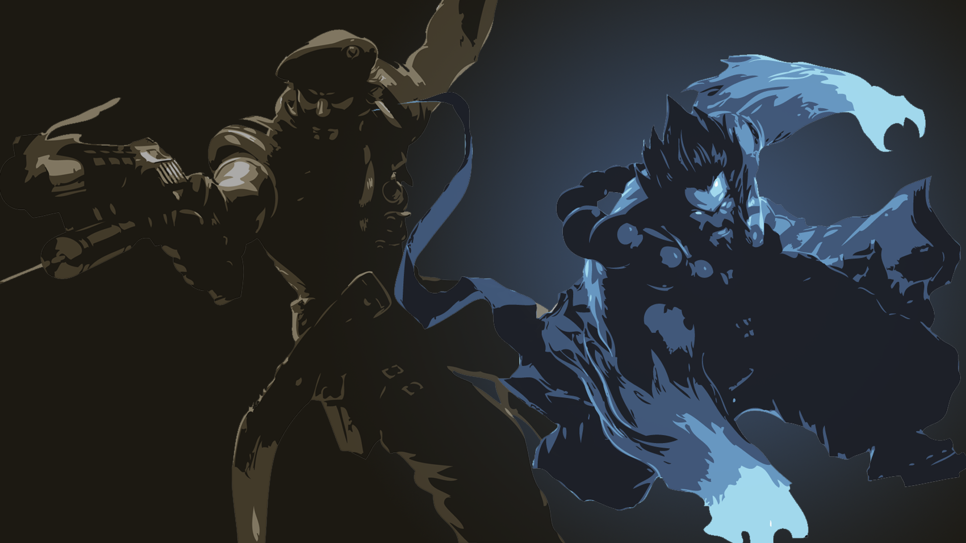 Special Forces Gangplank & Spirit Guard Udyr Minimalistic wallpaper