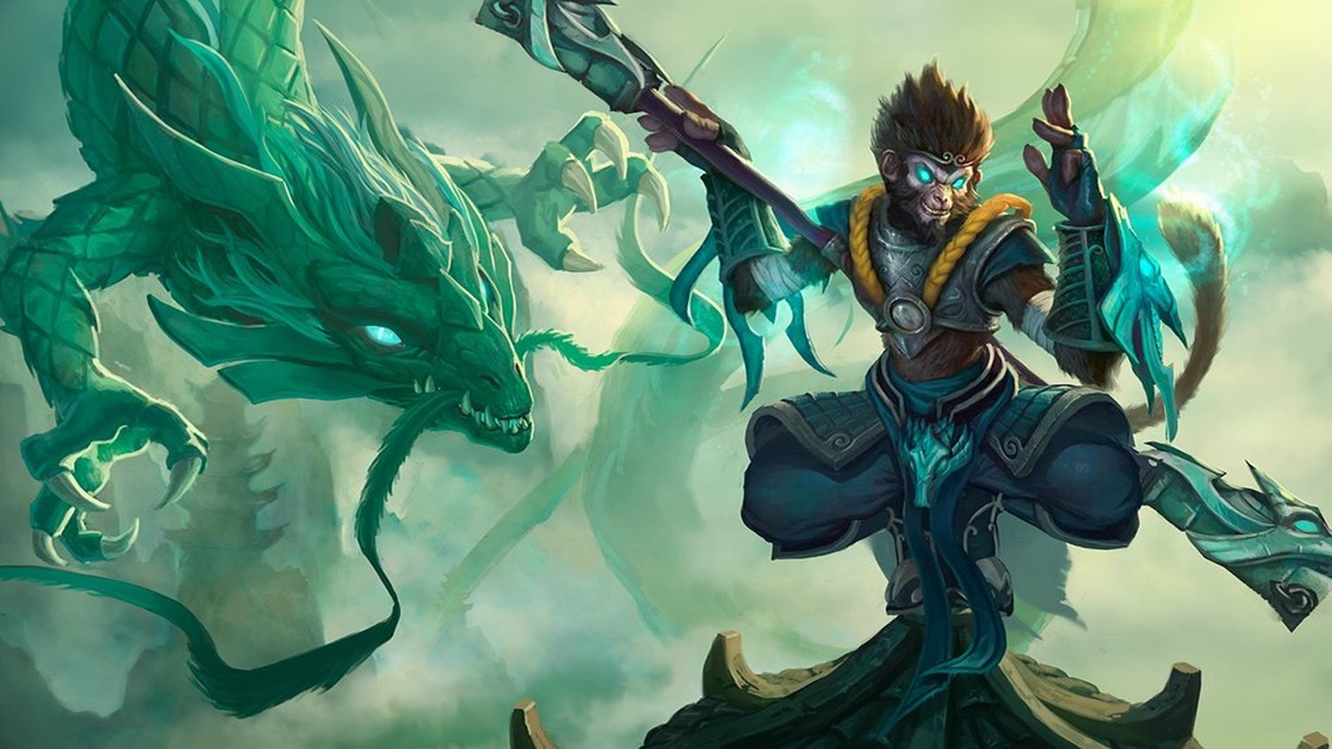 Jade Dragon Wukong wallpaper
