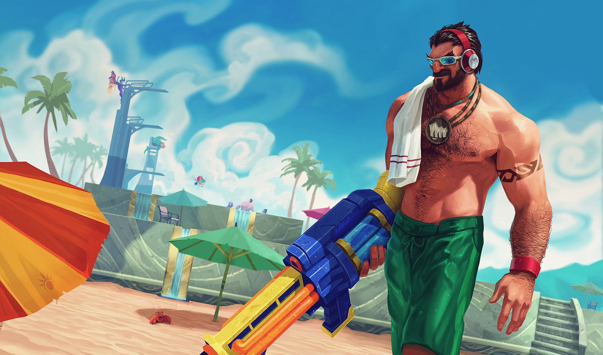 Pool Party Graves wallpaper