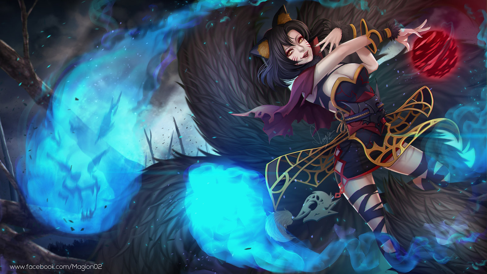 Nightmare Spirit Ahri wallpaper