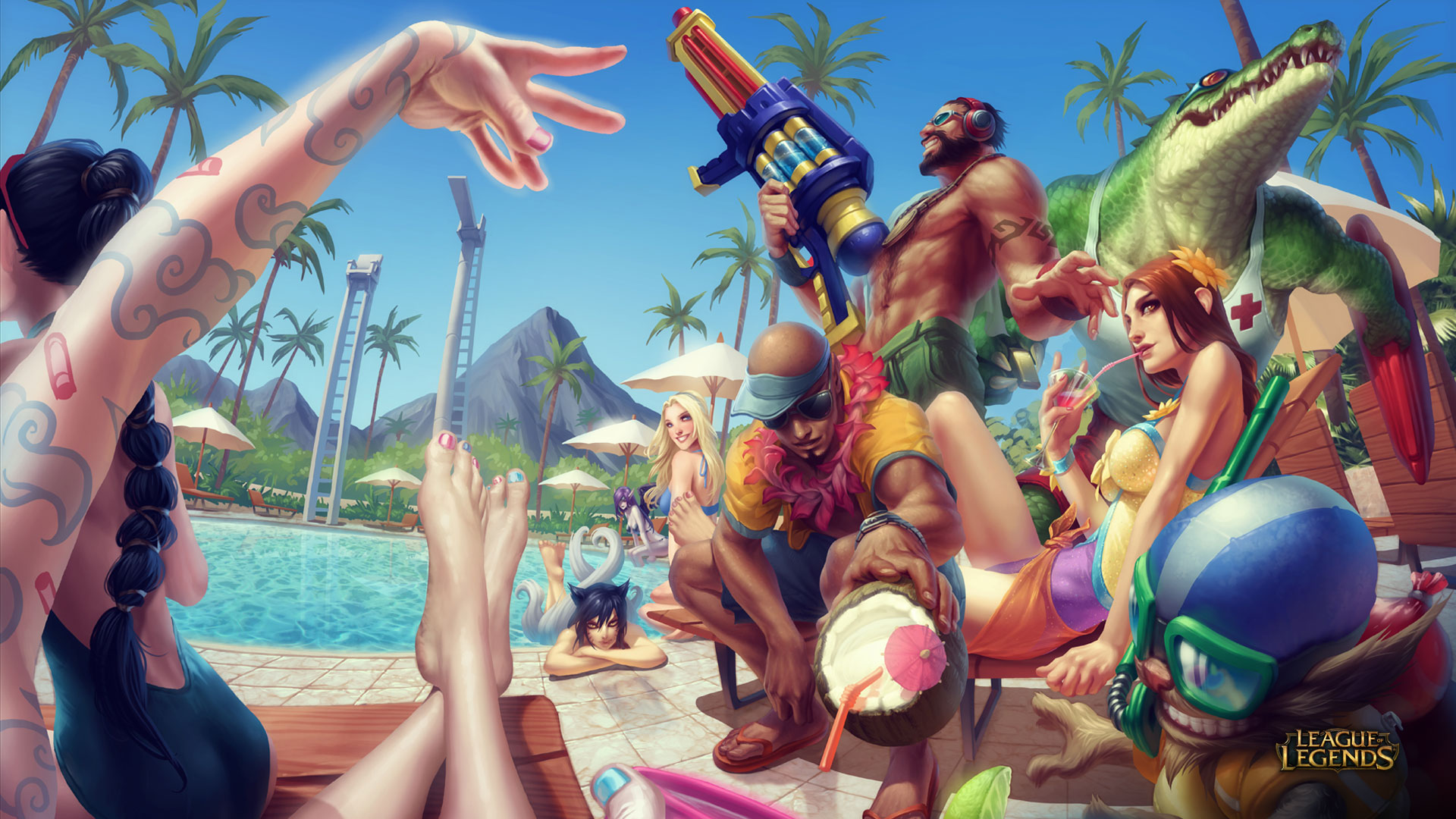 Pool Party Skins wallpaper