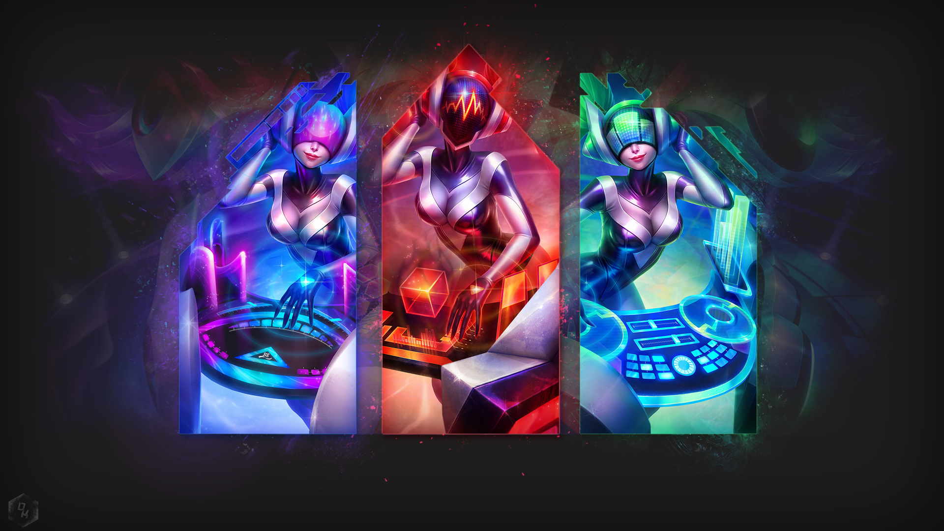 DJ Sona textless wallpaper