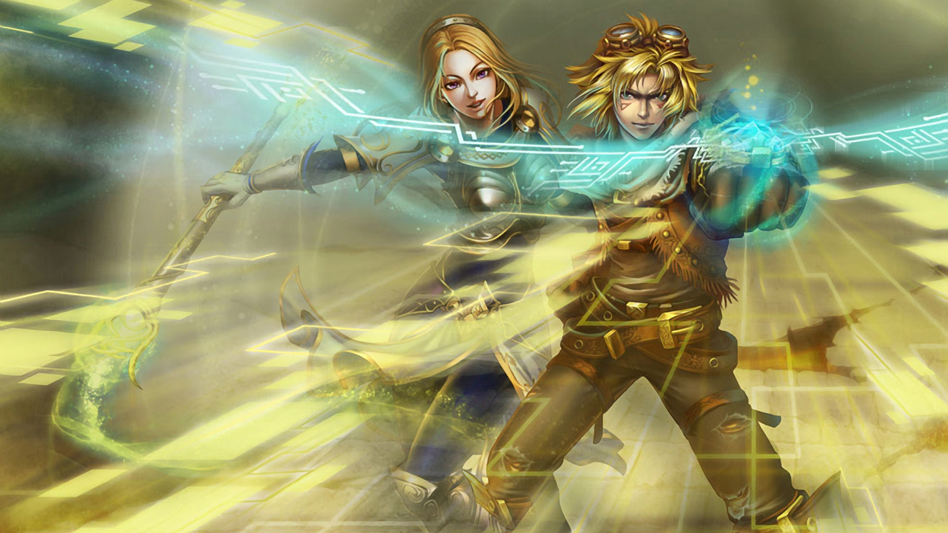 Lux & Ezreal wallpaper
