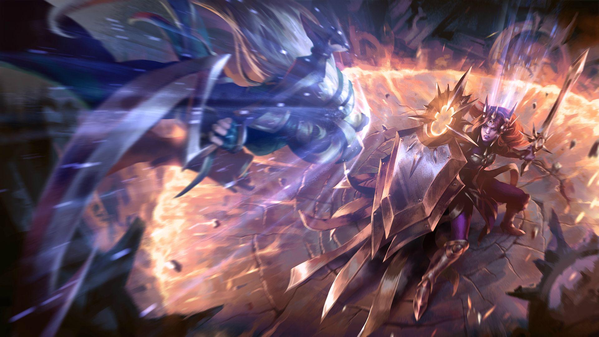 Diana vs Leona wallpaper