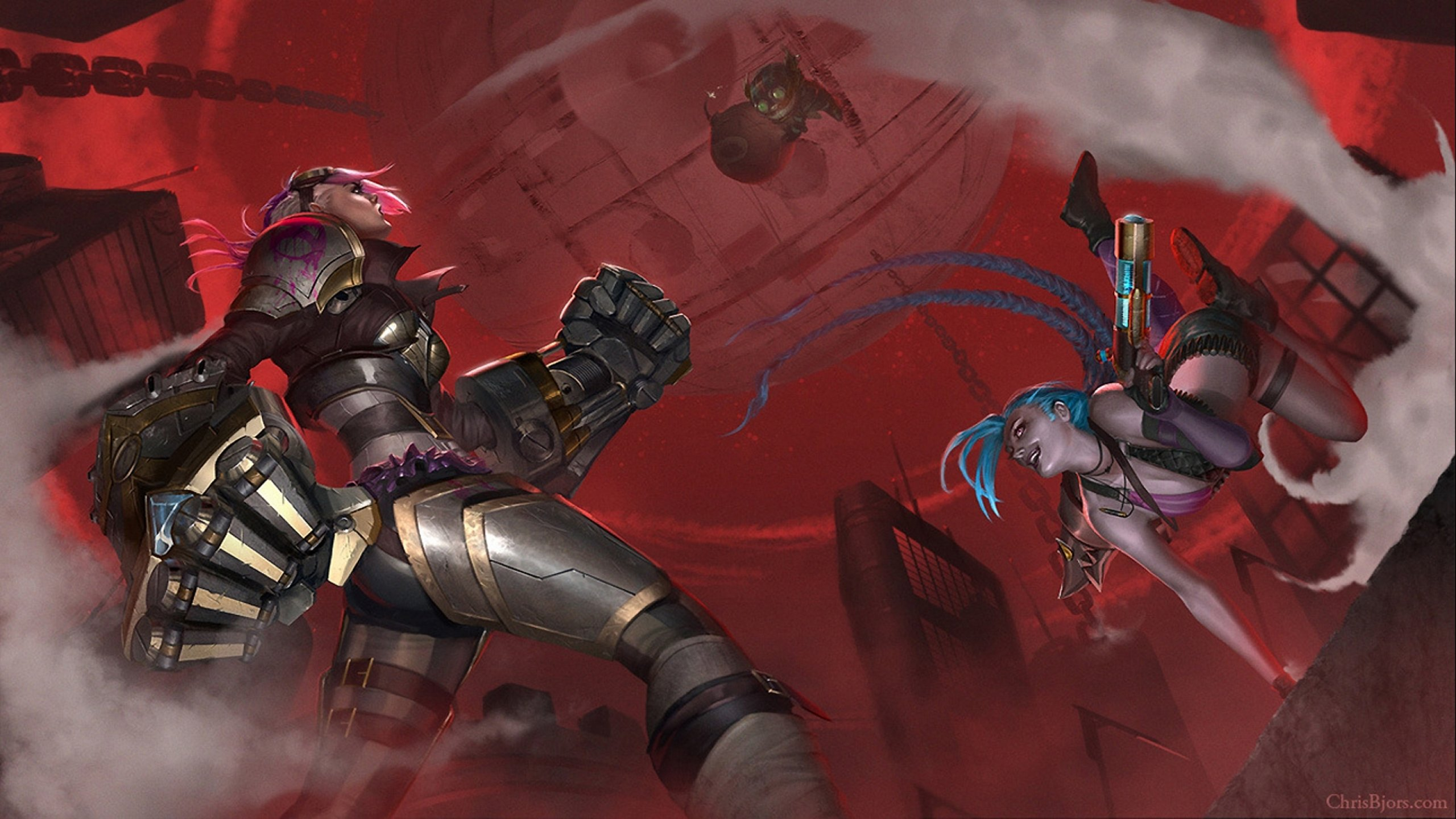 Vi , Ziggs & Jinx wallpaper