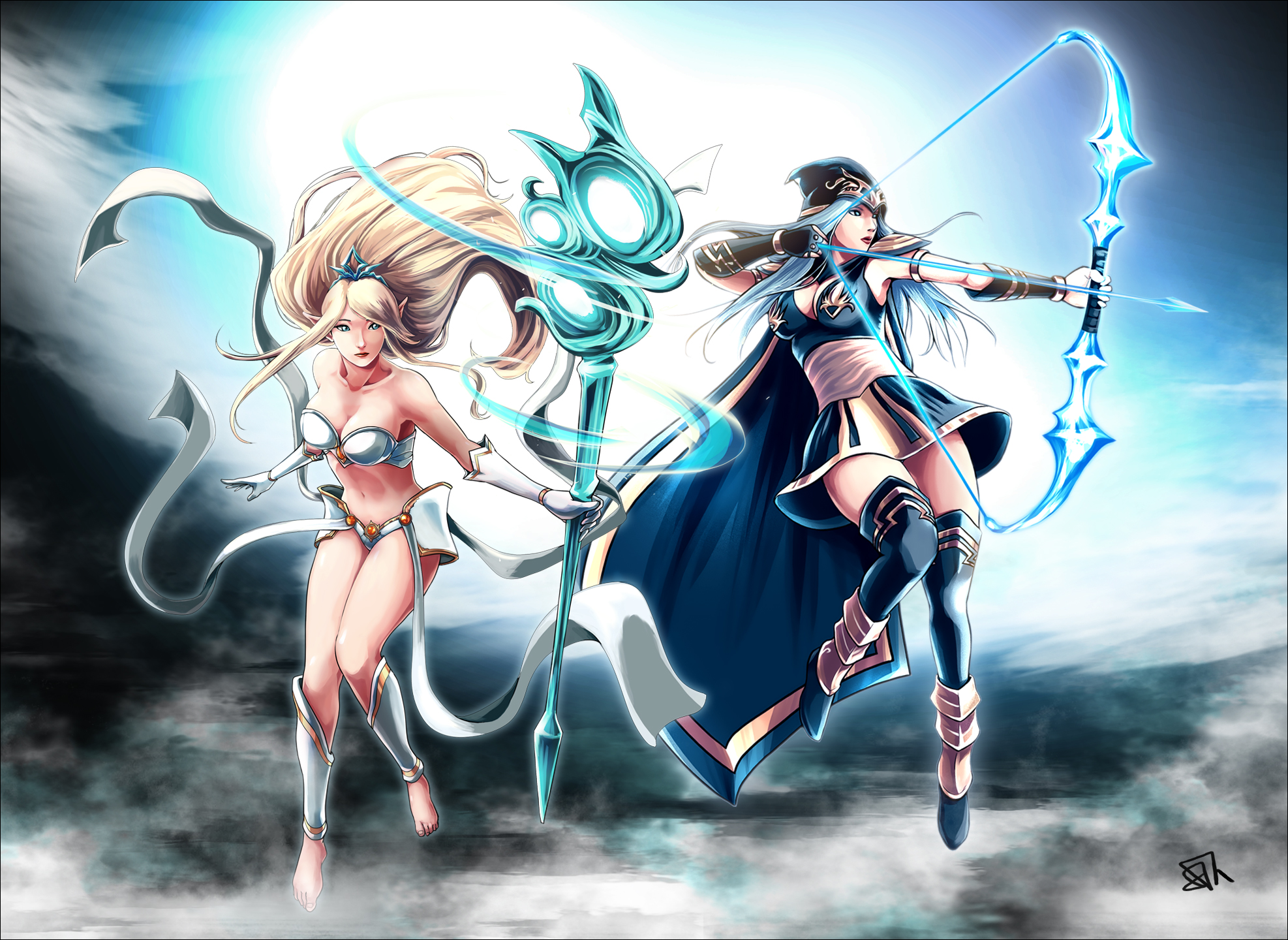 Ashe & Janna wallpaper