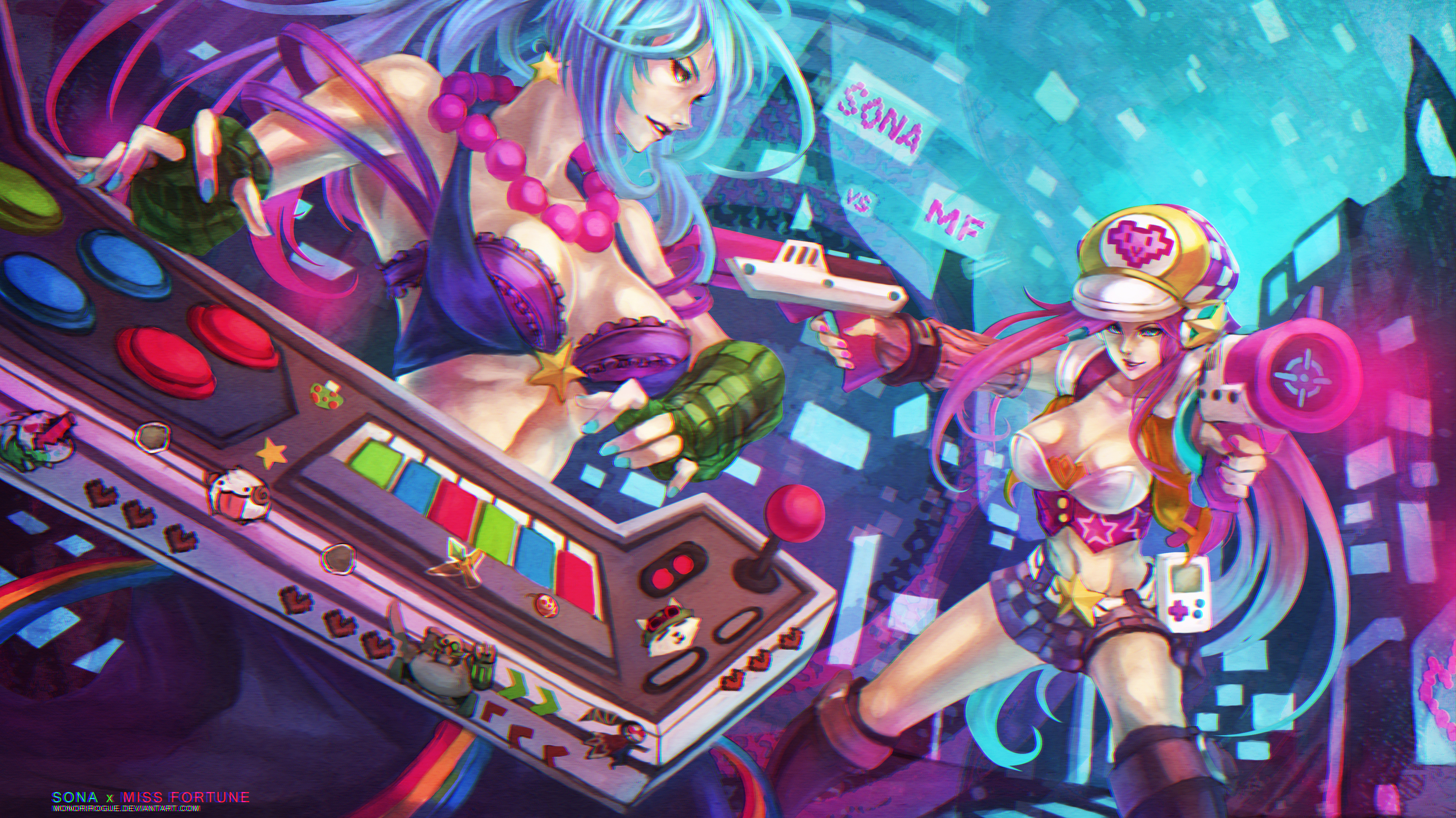Arcade Sona vs Arcade Miss Fortune wallpaper