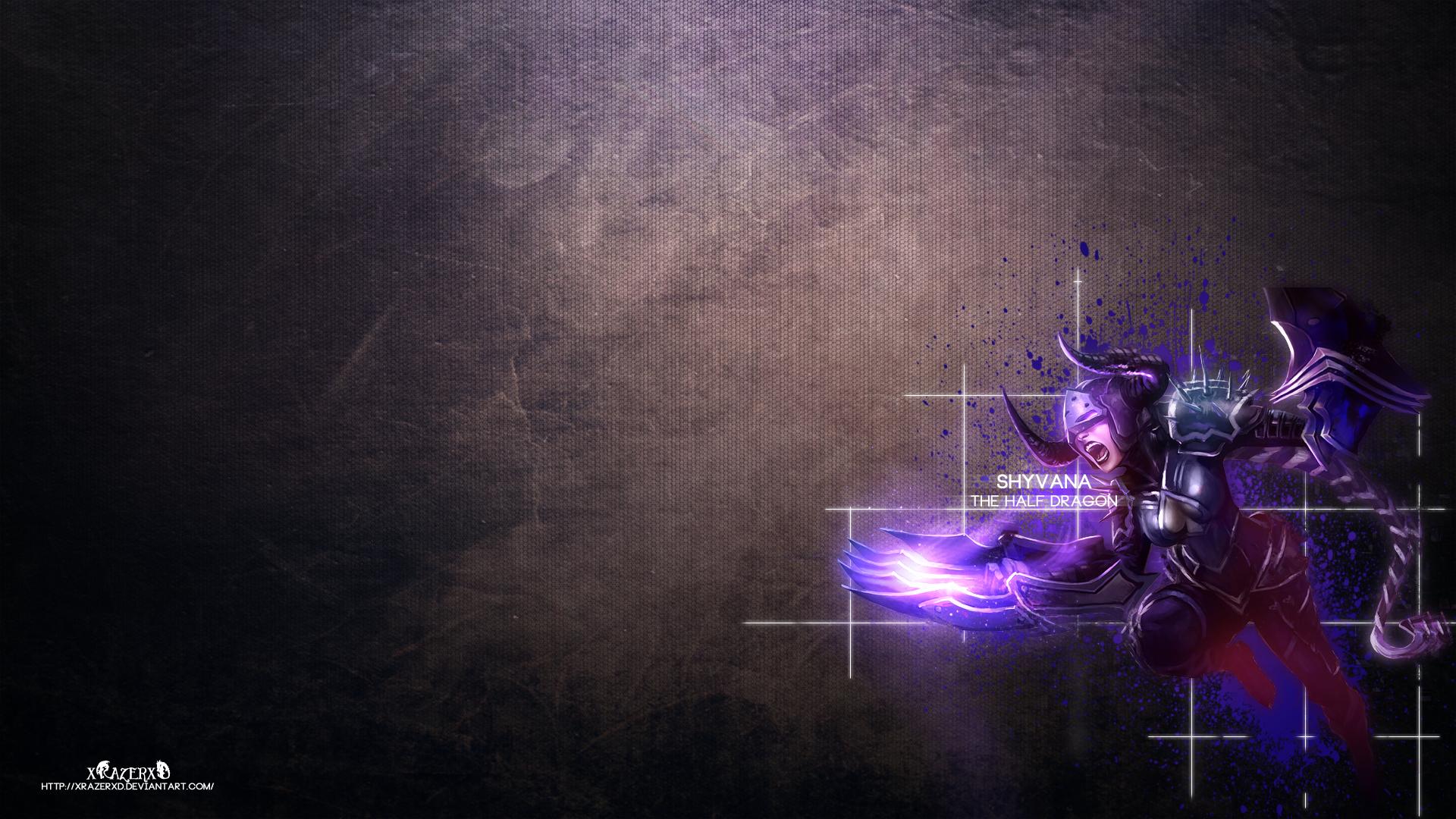 DarkFlame Shyvana wallpaper
