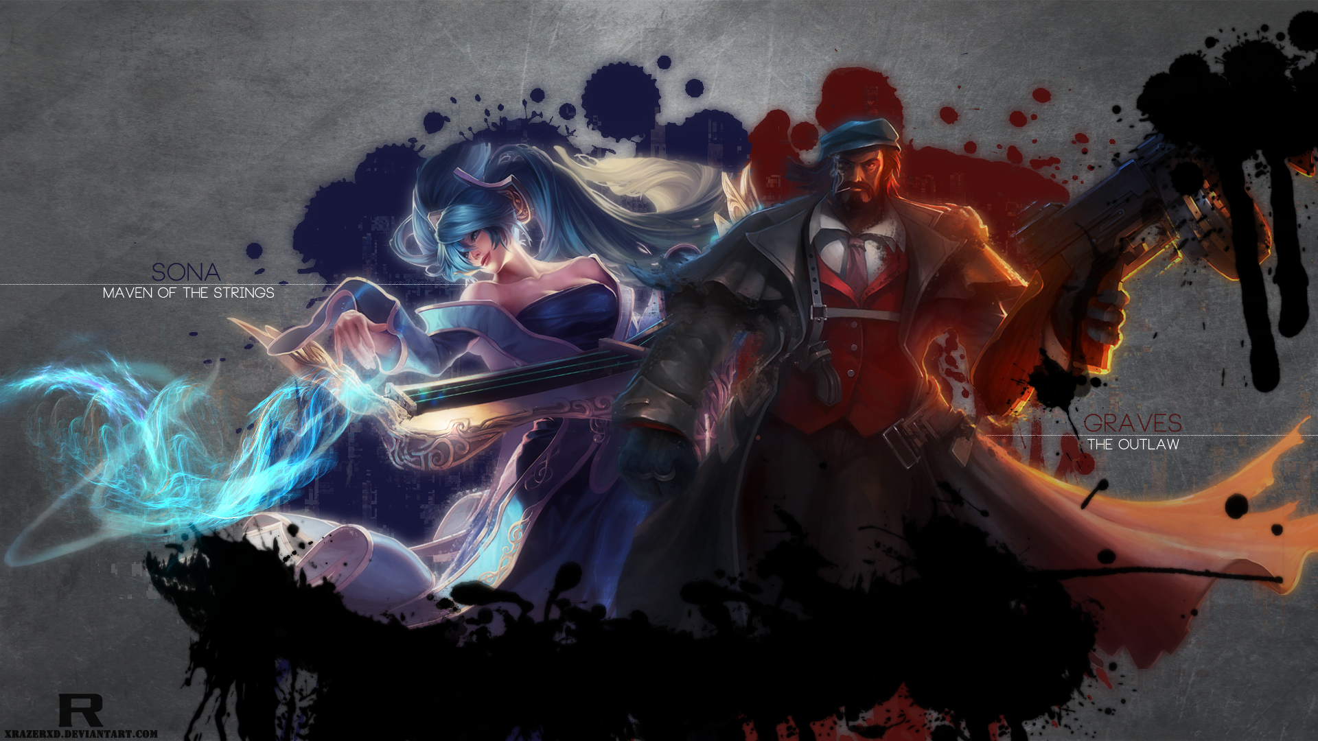 Sona & Mafia Graves wallpaper