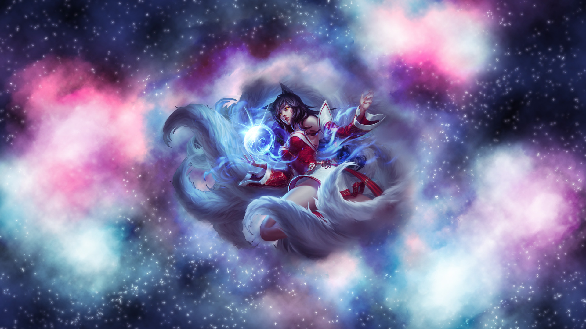 Ahri with stars wallpaper