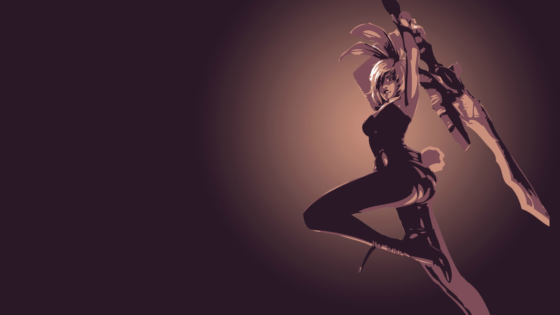 Battle Bunny Riven Minimalistic wallpaper