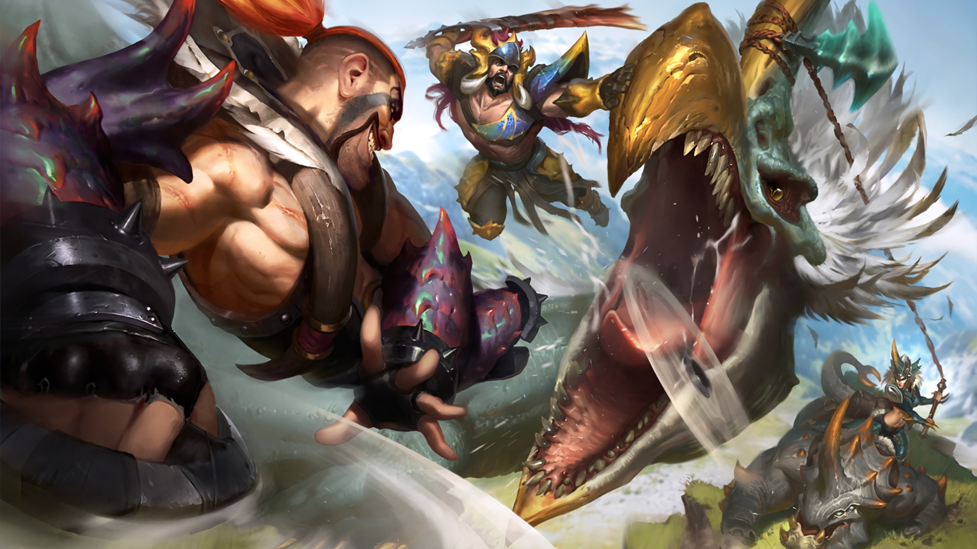 Beast Hunter Draven, Tryndamere & Sejuani wallpaper
