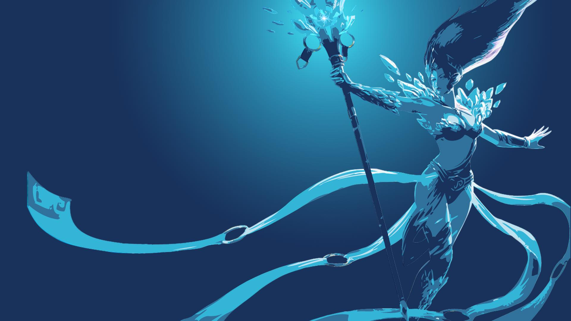 frost queen janna minimalistic lolwallpapers
