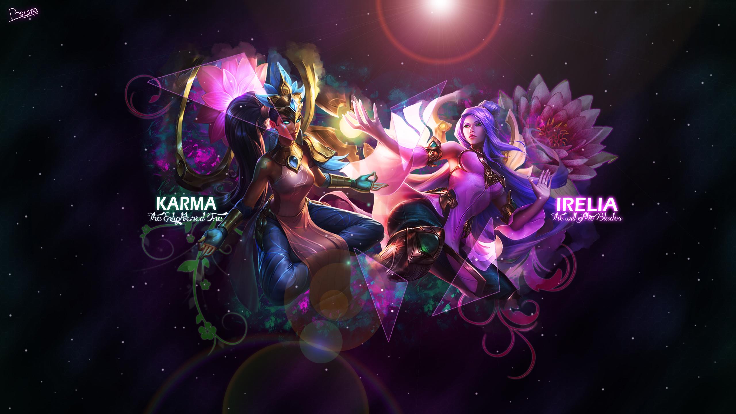 Order of The Lotus Karma & Irelia wallpaper