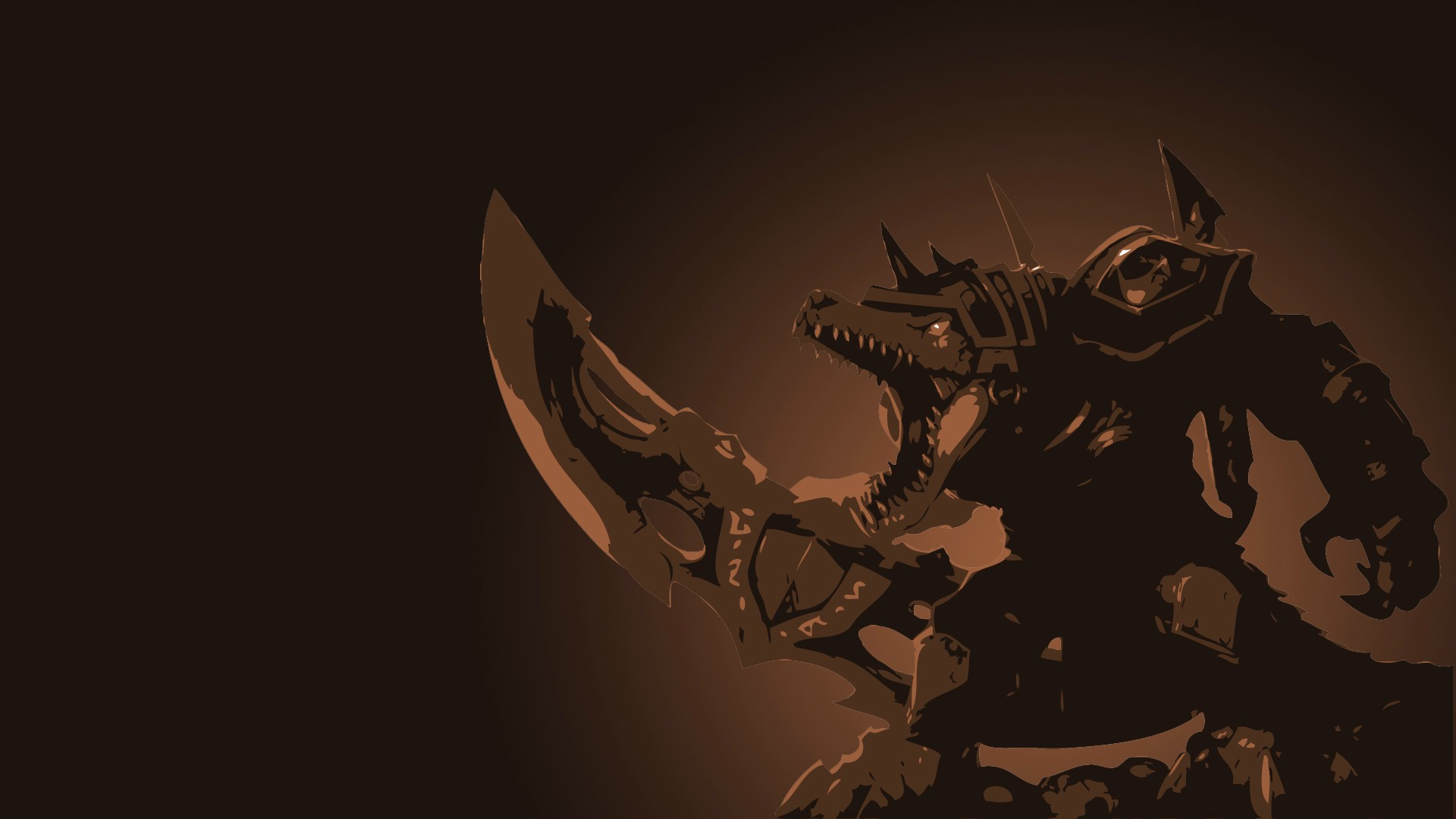 Rune Wars Renekton Minimalistic wallpaper