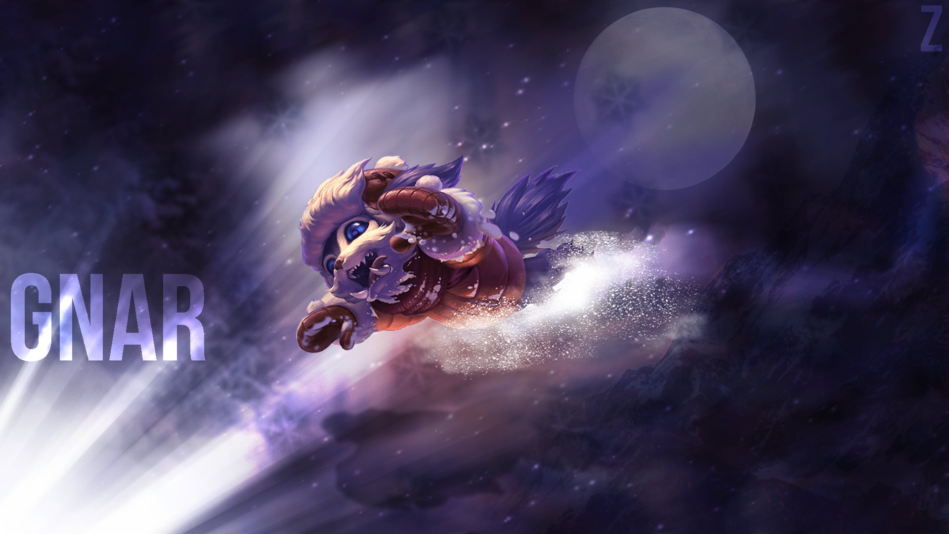Snow Day Gnar wallpaper