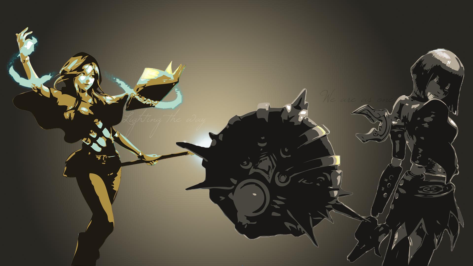 Spellthief Lux & Bladecraft Orianna Minimalistic wallpaper