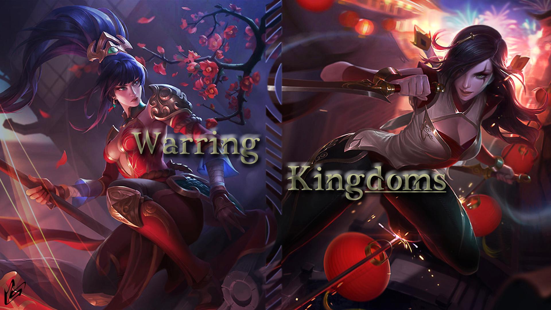 Warring Kingdoms Nidalee & Katarina wallpaper