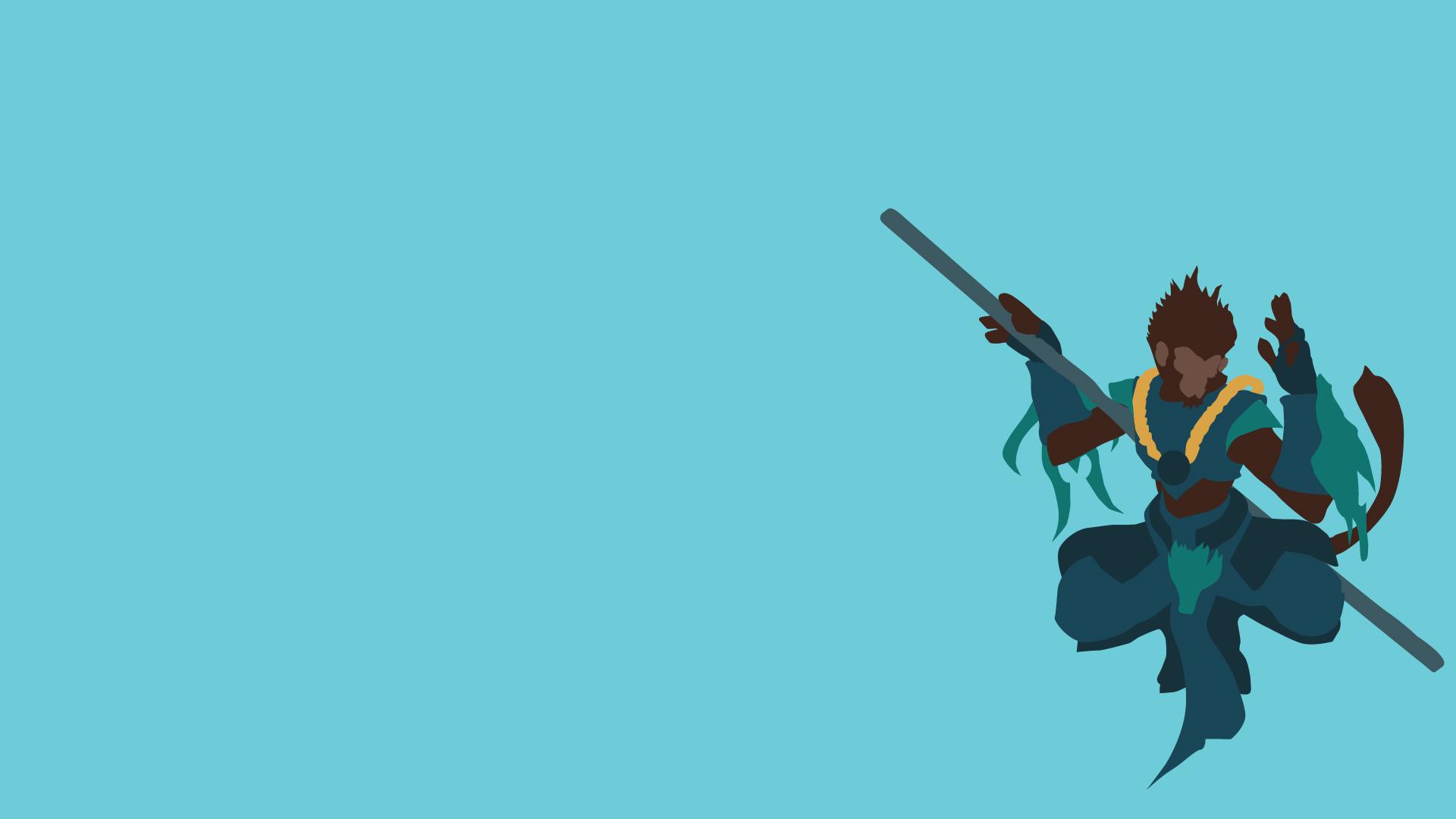 Wukong Minimalistic wallpaper