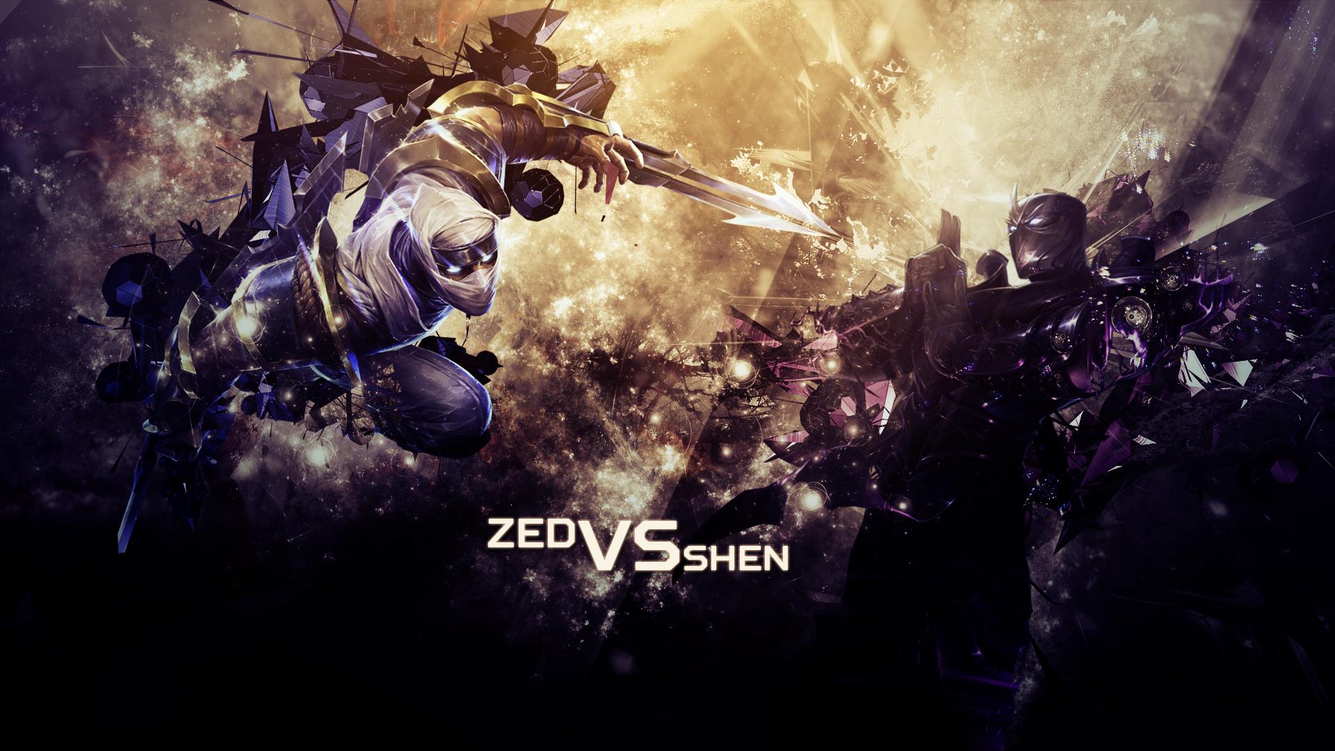 Zed vs Shen wallpaper