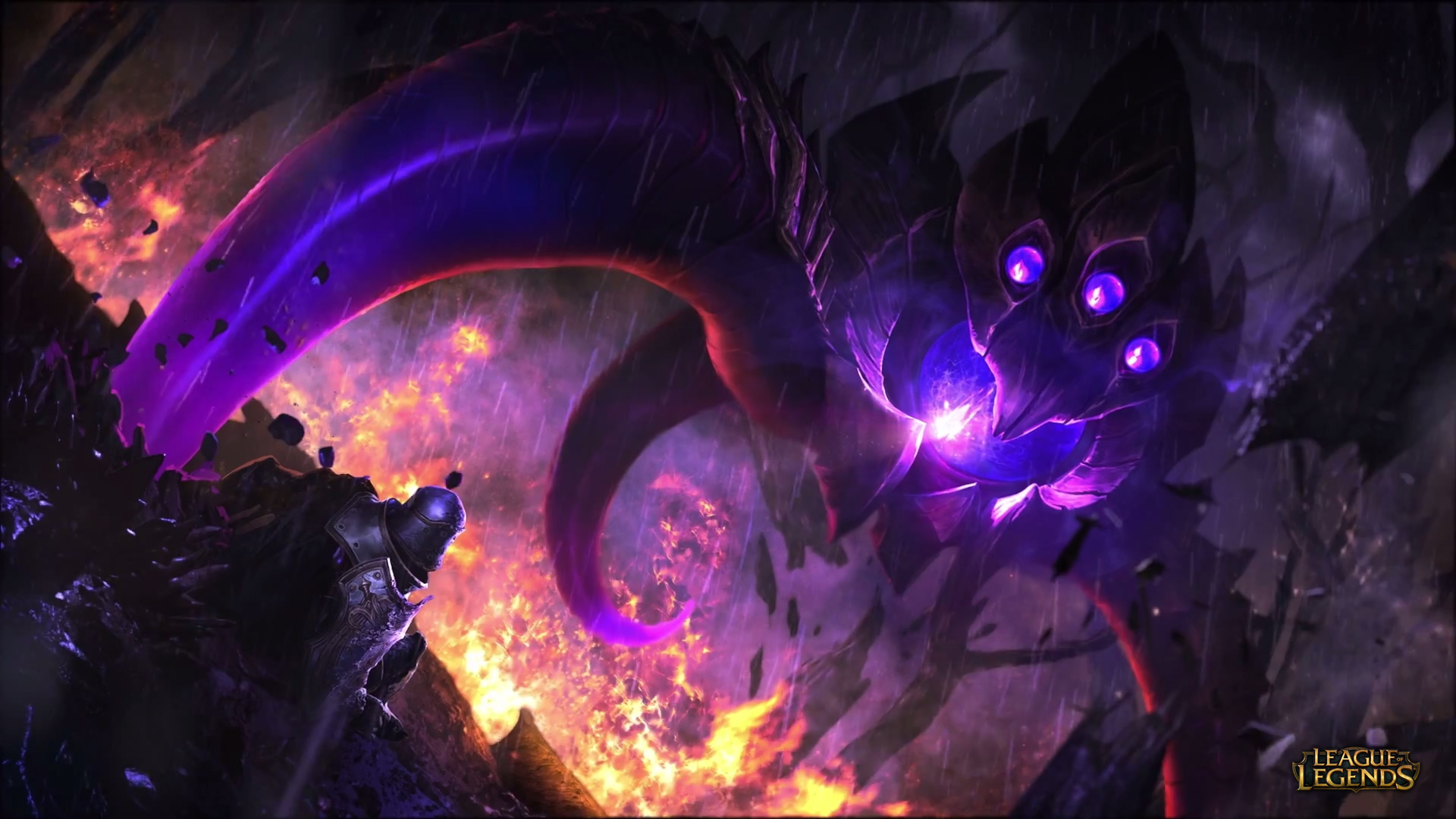 Vel'Koz vs Talon wallpaper