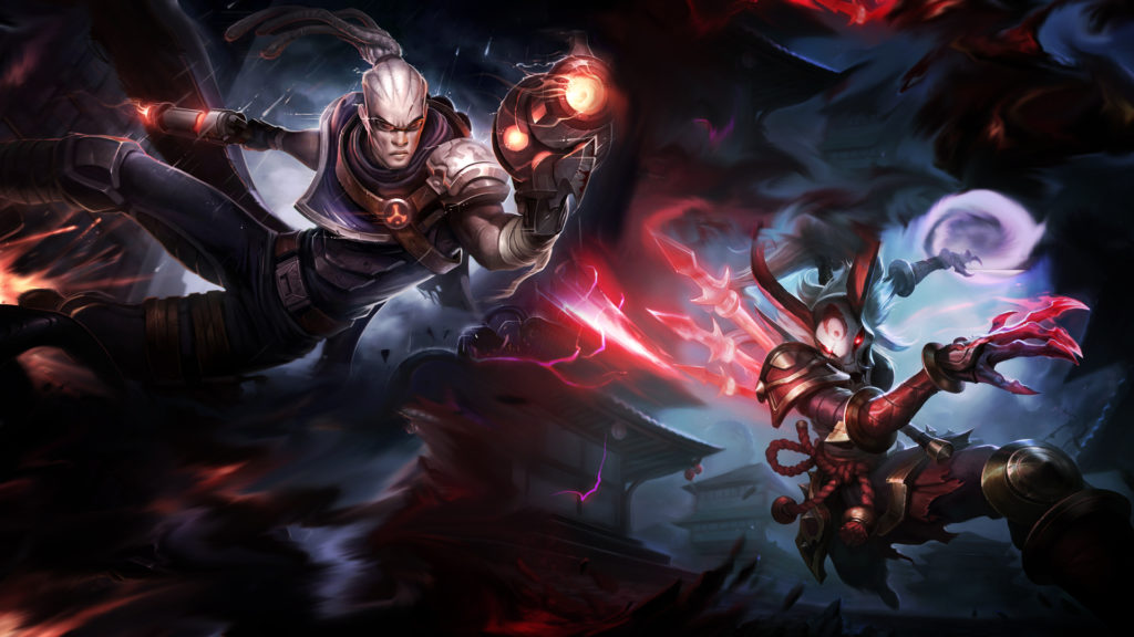 Hired Gun Lucian & Blood Moon Kalista wallpaper