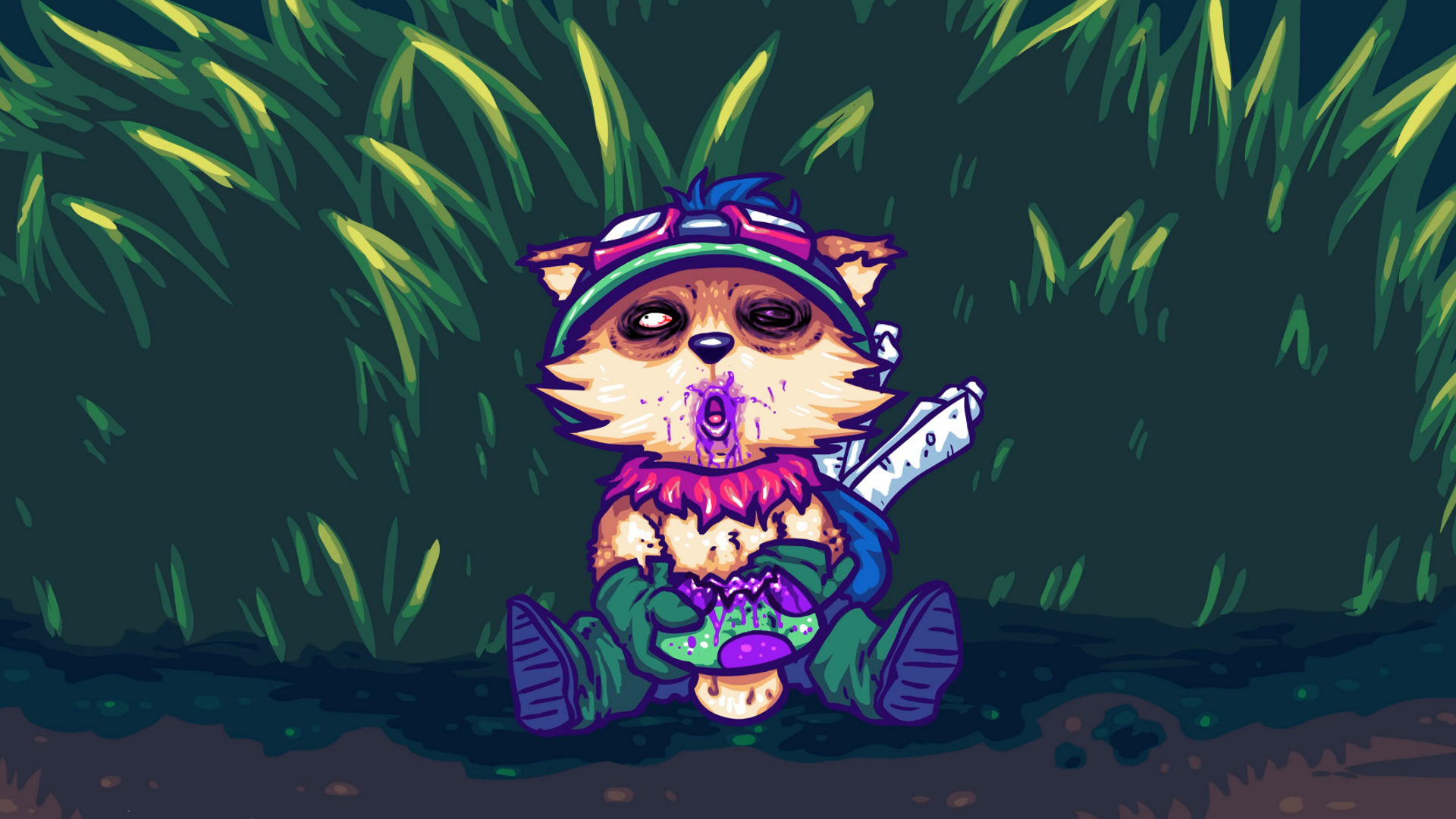 Drugged Teemo wallpaper