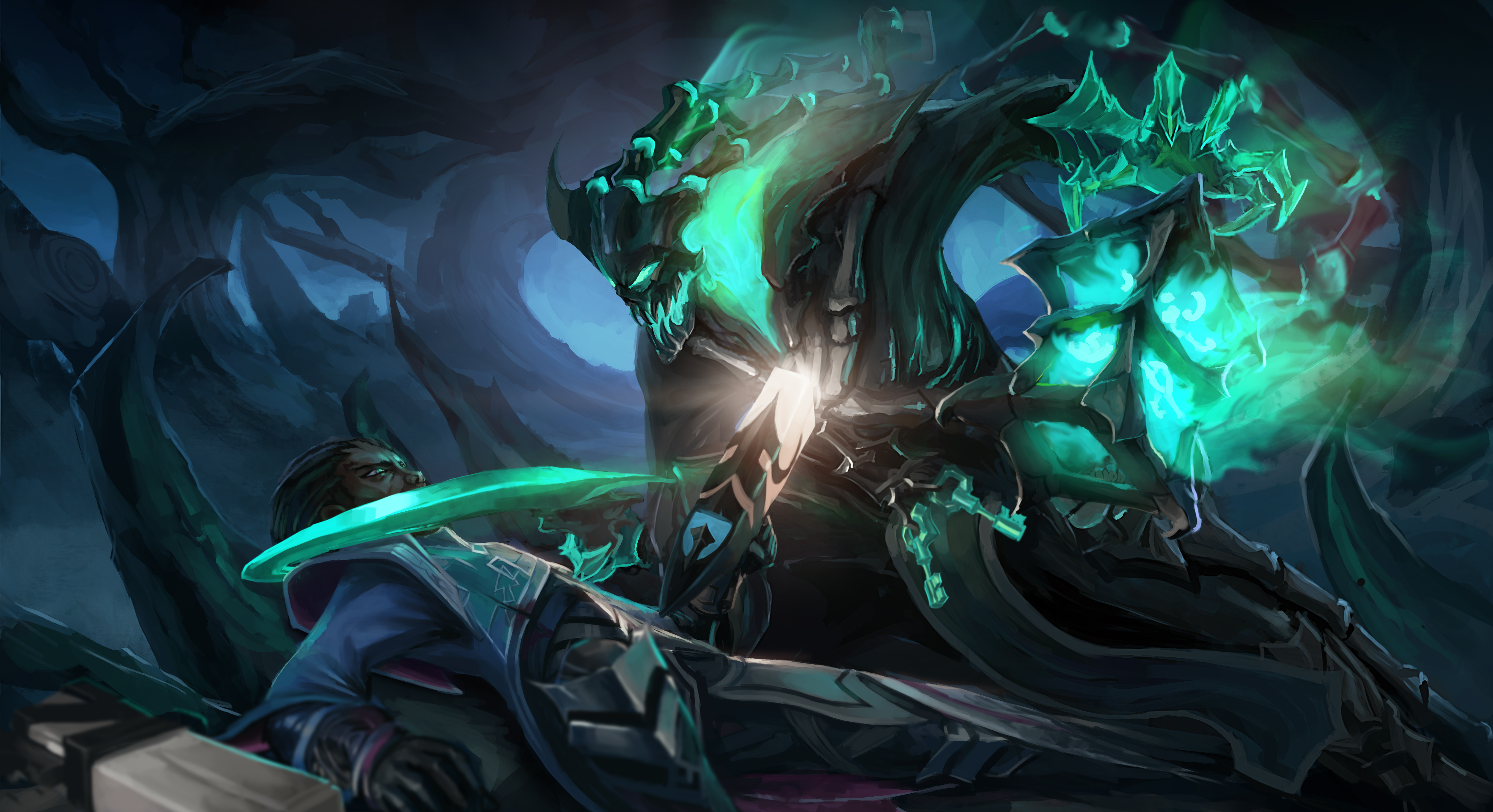 Thresh Vs Lucian wallpaper