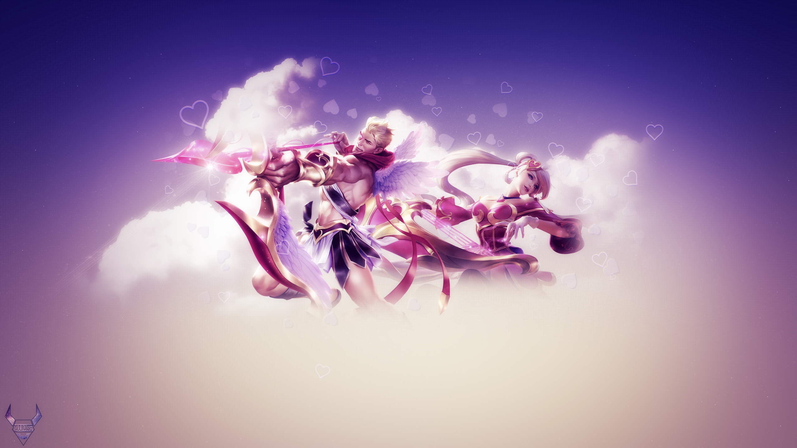 Valentine's Day Sona & Varus Skins wallpaper