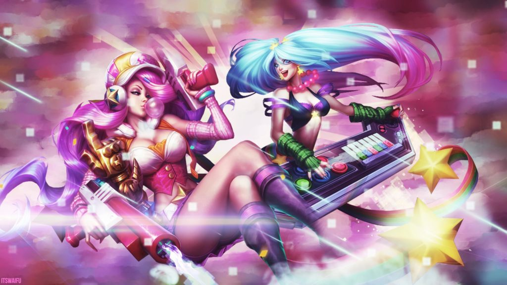 Arcade Miss Fortune & Sona wallpaper