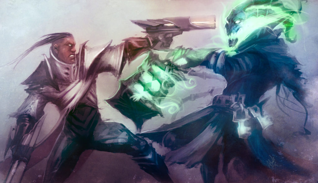 Lucian vs Thresh wallpaper