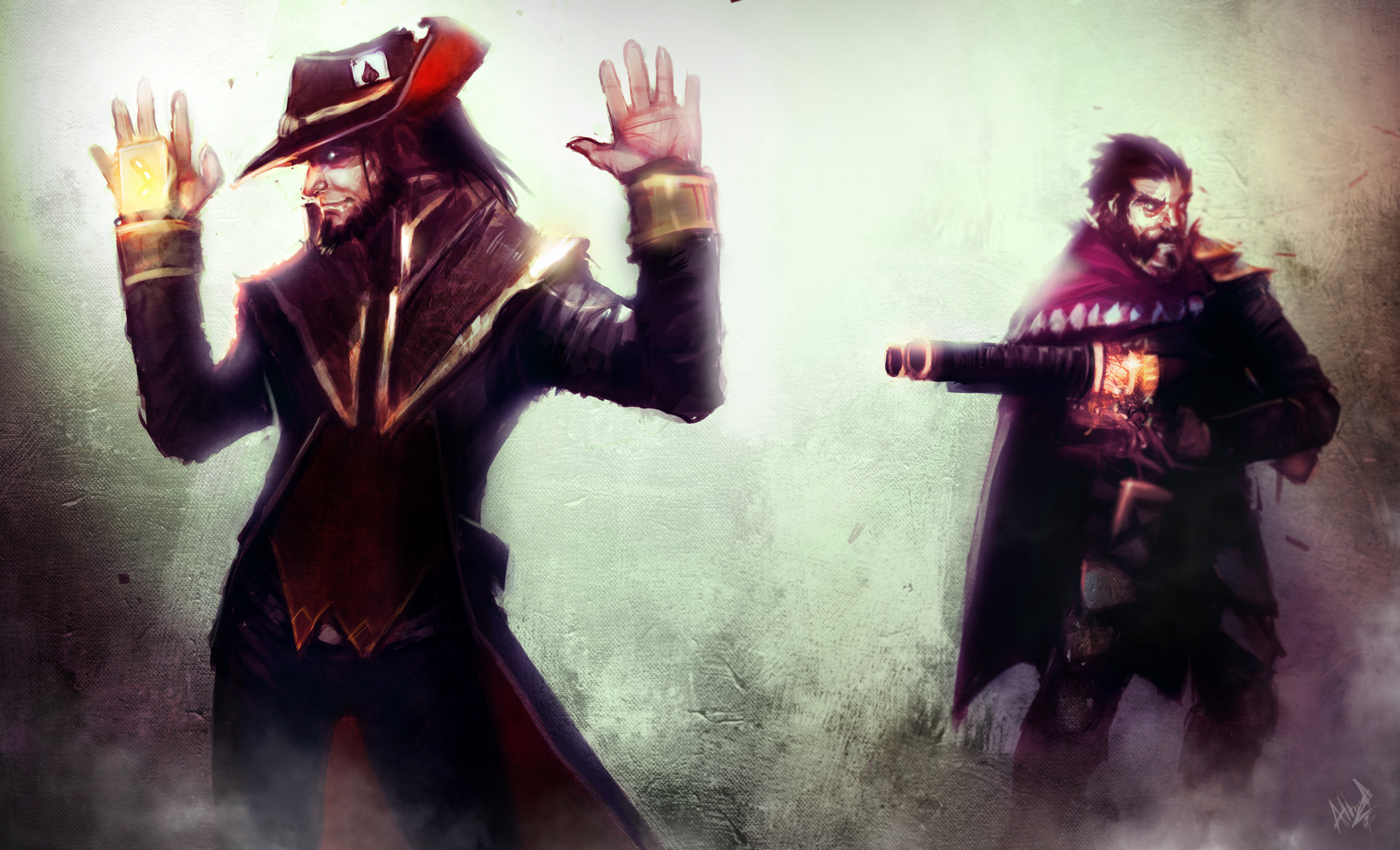 Twisted Fate Vs Graves Lolwallpapers